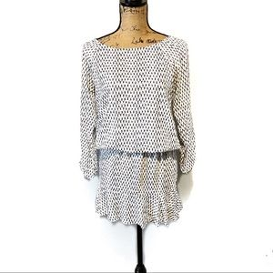Soft By Joie Dress Black white print XS